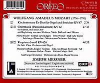 Kirchensonate Kv 67/Requiem Kv 626/Grabmusik Kv 42 - Produktdetailbild 1