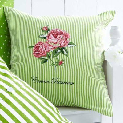 kissenh lle corona gr n muster bestickt bestellen. Black Bedroom Furniture Sets. Home Design Ideas