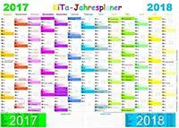 Gsv wandkalender schuljahresplan 2017 18 din a2 poster for Wand jahresplaner 2017