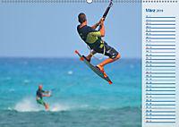 Kitesurfen - Wind und Wellen (Wandkalender 2019 DIN A2 quer) - Produktdetailbild 3