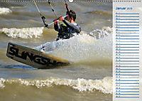Kitesurfen - Wind und Wellen (Wandkalender 2019 DIN A2 quer) - Produktdetailbild 1