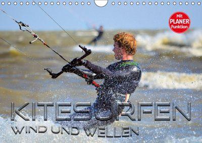 Kitesurfen - Wind und Wellen (Wandkalender 2019 DIN A4 quer), Renate Bleicher