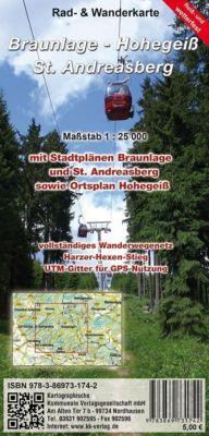 KKV Rad- und Wanderkarte Braunlage - Hohegeiß - Sankt Andreasberg