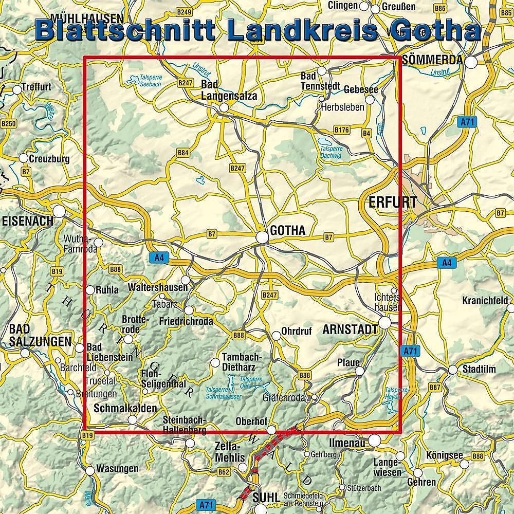 Landkreis Gotha Karte.Kkv Rad Und Wanderkarte Landkreis Gotha Buch Weltbild De