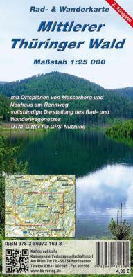 KKV Rad- und Wanderkarte Mittlerer Thüringer Wald