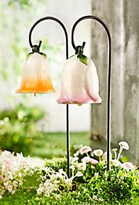 "Klang-Gartenstecker ""Glockenblume"", 2er-Set - Produktdetailbild 1"