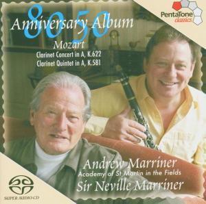 Klarinettenkonzert/Klarinettenquintett, Andrew Marriner, Neville Marriner, Amf