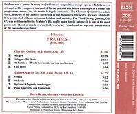 Klarinettenquintett op. 115 h-moll / Streichquartett Nr. 3 op. 67 B-dur - Produktdetailbild 1