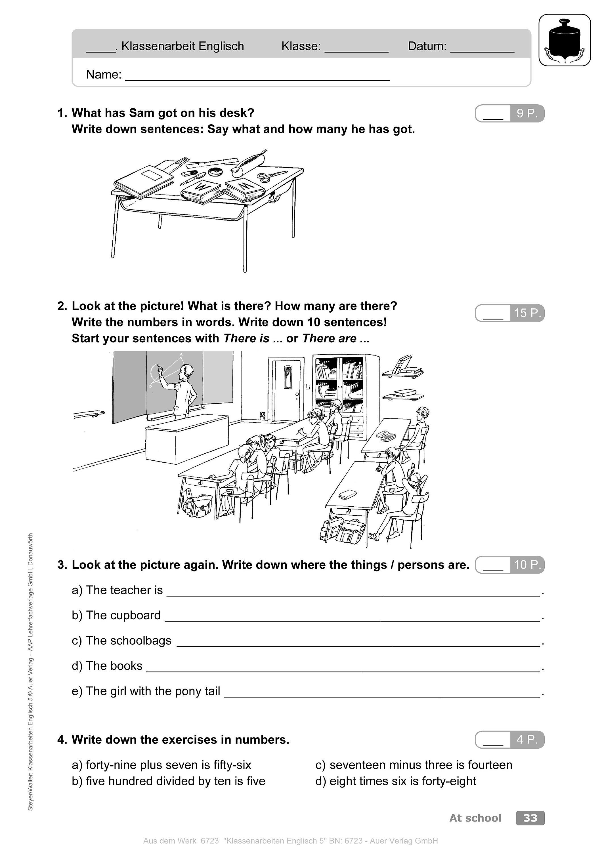 Schulaufgabe englisch 5 klasse realschule