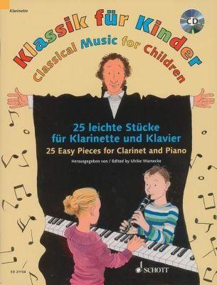 Klassik für Kinder, Klarinette in B und Klavier, m. Audio-CD