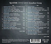 Klassik Ohne Krise: Grandioser Gesang - Produktdetailbild 1