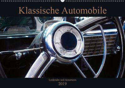 Klassische Automobile - Lenkräder und Armaturen (Wandkalender 2019 DIN A2 quer), Beate Gube