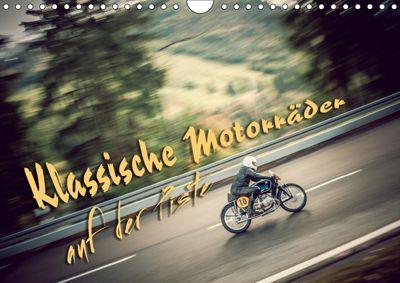 Klassische Motorräder auf der Piste (Wandkalender 2019 DIN A4 quer), Johann Hinrichs