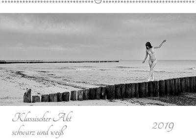 Klassischer Akt schwarz und weiß (Wandkalender 2019 DIN A2 quer), Dieter Kittel