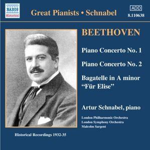 Klavierkonzert 1+2/Für Elis, Artur Schnabel, Malcolm Sargent