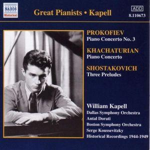 Klavierkonzert 3/+, William Kapell, Dorati, Koussevi
