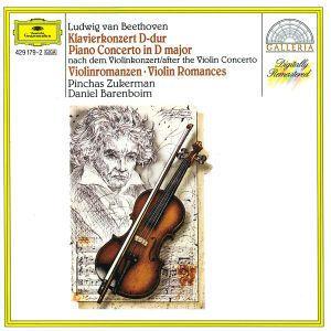 Klavierkonzert D-Dur(Violine)Violinromanzen 1,2, Daniel Barenboim, Pinchas Zukerman, Eco, Lpo