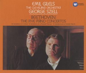 Klavierkonzerte 1-5/Klaviervariationen, Emil Gilels, Co, George Szell