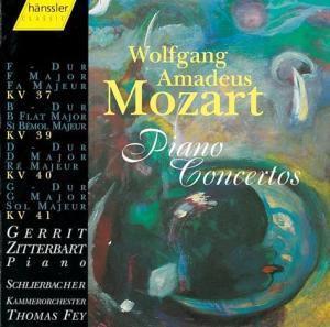 Klavierkonzerte Kv 37+39+40+41, Zitterbart, Fey, Schlierbacher Kammerorchester