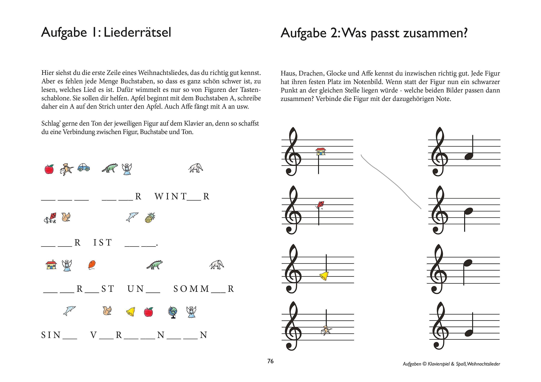 Klavierspiel & Spaß - Weihnachtslieder zum Klavierspielen lernen Buch