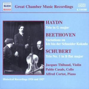Klaviertrios, Thibaud, Casals, Cortot
