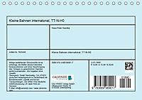 Kleine Bahnen international, TT-N-H0 (Tischkalender 2019 DIN A5 quer) - Produktdetailbild 13