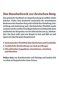 Kleine Kunstgeschichte der deutschen Burg - Produktdetailbild 1