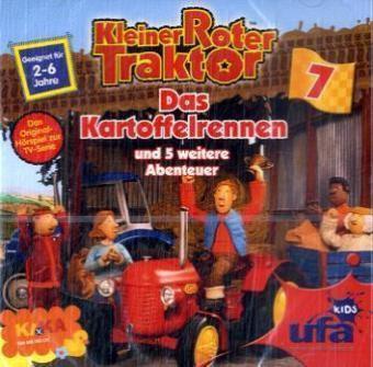 Kleiner Roter Traktor - Das Kartoffelrennen und 5 weitere Abenteuer, 1 Audio-CD, Kleiner roter Traktor