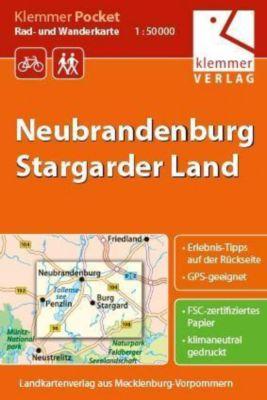 Klemmer Pocket Rad- und Wanderkarte Neubrandenburg - Stargarder Land 1 : 50 000, Christian Kuhlmann, Thomas Wachter, Klaus Klemmer