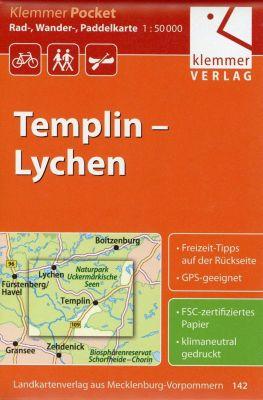 Klemmer Pocket Rad-, Wander- und Paddelkarte Templin - Lychen