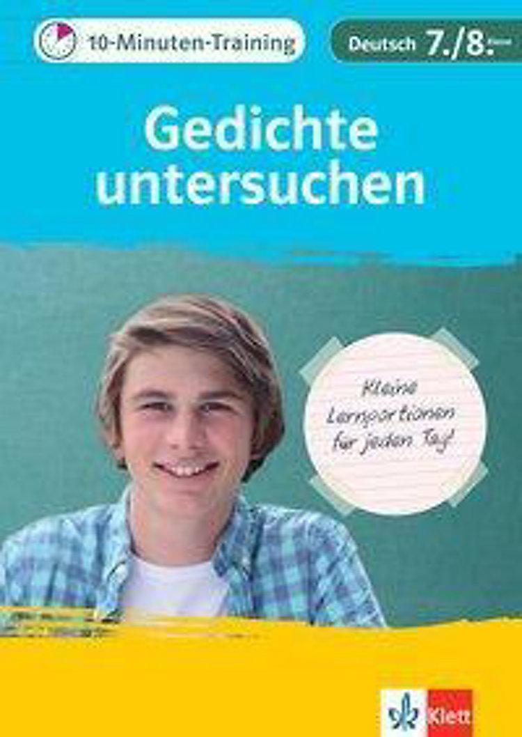 Klett 10 Minuten Training Deutsch Aufsatz Gedichte