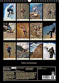 Klettern und Bergsteigen (Wandkalender 2019 DIN A3 hoch) - Produktdetailbild 13