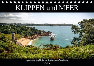Klippen und Meer. Fantastische Ausblicke auf den Inseln im Ärmelkanal (Tischkalender 2019 DIN A5 quer), Emel Malms