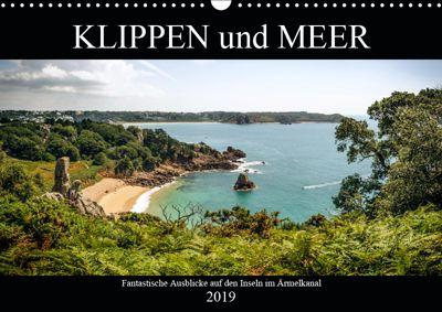 Klippen und Meer. Fantastische Ausblicke auf den Inseln im Ärmelkanal (Wandkalender 2019 DIN A3 quer), Emel Malms