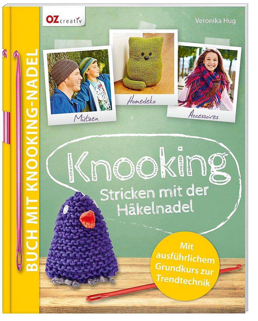 Knooking Stricken Mit Der Häkelnadel Mit Knooking Nadel Nr 4