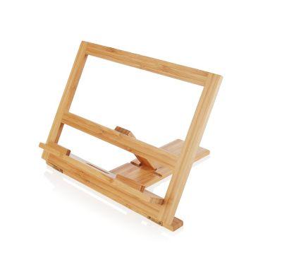 Kochbuch- und Tablethalter aus Bambus