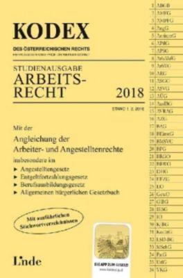 KODEX Arbeitsrecht 2018, Studienausgabe (f. Österreich), Gerda Ercher-Lederer