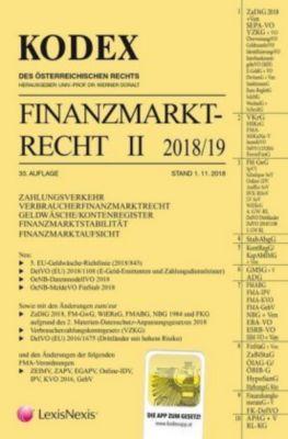 KODEX Finanzmarktrecht Band II 2018/19