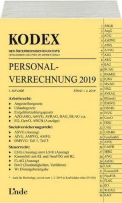 KODEX Personalverrechnung 2019 (f. Österreich) - Josef Hofbauer |