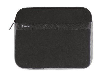 KOENIG Notebook-Huelle 41,5 x 29,5 cm 15-16Zoll Neopren Schwarz Anthrazit