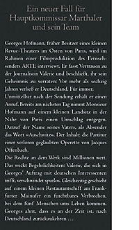 Kommissar Marthaler Band 3: Partitur des Todes - Produktdetailbild 2