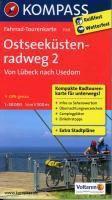 KOMPASS Fahrrad-Tourenkarte Ostseeküstenradweg
