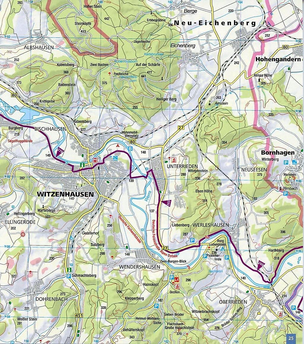 Werratal Radweg Karte.Kompass Fahrrad Tourenkarte Werratal Radweg Buch Weltbild De