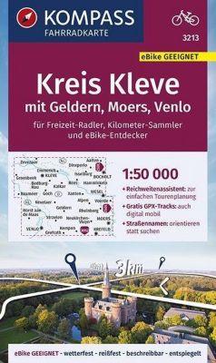 KOMPASS Fahrradkarte Kreis Kleve mit Geldern, Moers, Venlo 1:50.000