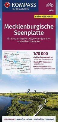 KOMPASS Fahrradkarte Mecklenburgische Seenplatte 1:70.000