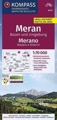 KOMPASS Fahrradkarte Meran, Bozen und Umgebung, Merano, Bolzano e dintorni 1:70.000 -  pdf epub
