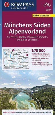 KOMPASS Fahrradkarte Münchens Süden, Alpenvorland 1:70.000 -  pdf epub