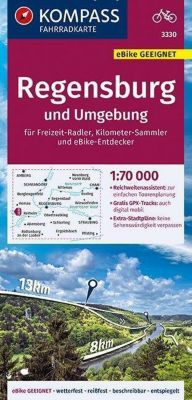 KOMPASS Fahrradkarte Regensburg und Umgebung 1:70.000