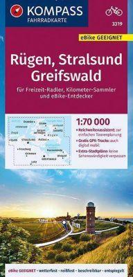 KOMPASS Fahrradkarte Rügen, Stralsund, Greifswald 1:70.000