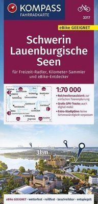 KOMPASS Fahrradkarte Schwerin, Lauenburgische Seen 1:70.000